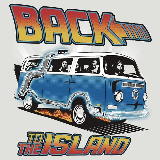 TShirtGifter presents: Back to the Island Lost And Back to the Future Spoof