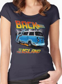 Back to the Island Lost And Back to the Future Spoof Women's Fitted Scoop T-Shirt