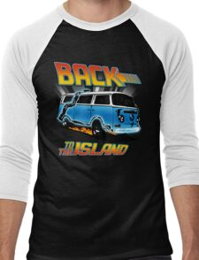 Back to the Island Lost And Back to the Future Spoof Men's Baseball ¾ T-Shirt