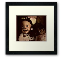 Doll Duo Framed Print