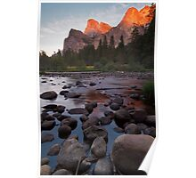Cathedral Rocks Sunset Poster