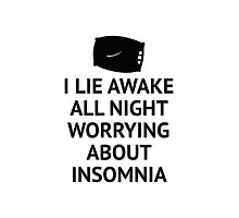 Worrying About Insomnia Photographic Print