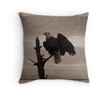 One Tree, One Eagle Throw Pillow