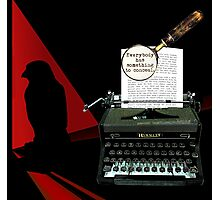 Dashiell Hammett Knows Whodunit! Photographic Print