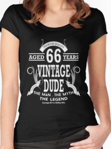 Vintage Dud Aged 66 Years Women's Fitted Scoop T-Shirt