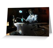 Mad scientist hard at work Greeting Card