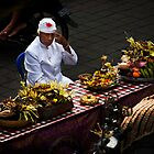 Balinese street devotion by Chris Westinghouse