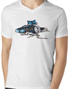 Blue Chucks Mens V-Neck T-Shirt