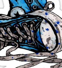 Blue Chucks Sticker