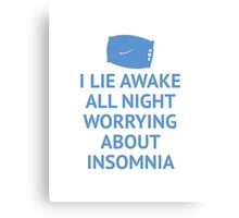 Worrying About Insomnia Canvas Print