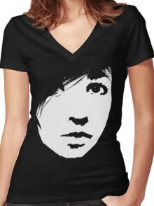 Girl #8 Women's Fitted V-Neck T-Shirt
