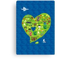 heart island Canvas Print