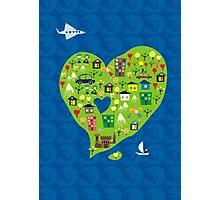 heart island Photographic Print