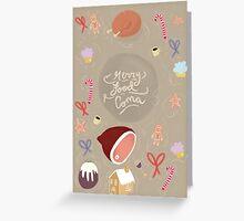 Christmas Food Coma Greeting Card