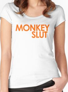 We're Not Having Monkey Slut As A Password Women's Fitted Scoop T-Shirt