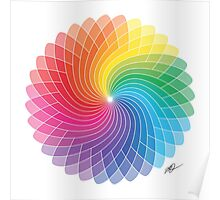 Colour Wheel Flower Poster