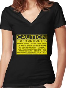 Accident prone Women's Fitted V-Neck T-Shirt
