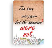 The town was paper but the memories were not Canvas Print