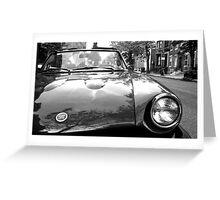 Black & White Fiat Spyder Greeting Card