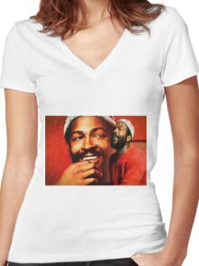 Motown Genius Women's Fitted V-Neck T-Shirt