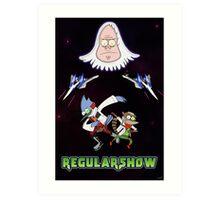 Star Fox x Regular Show Art Print