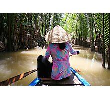 Mekong Paddle Photographic Print
