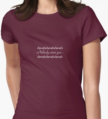 Nobody Owns You - Doccubus - Lost Girl Womens Fitted T-Shirt