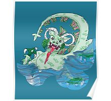 Larravide Japanese Monster multi bckgrn Poster