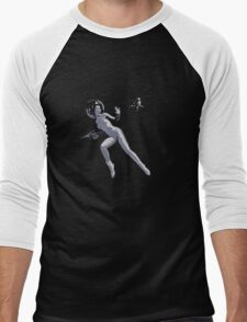 Girl with Raygun Men's Baseball ¾ T-Shirt