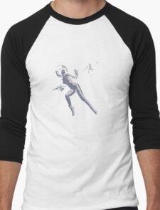 Girl with Raygun Men's Baseball ¾ T-Shirt