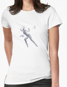 Girl with Raygun Womens Fitted T-Shirt