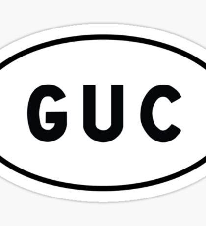Euro Sticker - GUC - Gunnison–Crested Butte Regional Airport Sticker