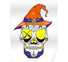 Witchy Sugar Skull Poster