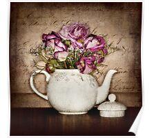 Vintage Tea Roses Poster