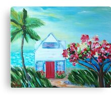 Little House by the Sea Canvas Print
