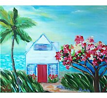 Little House by the Sea Photographic Print