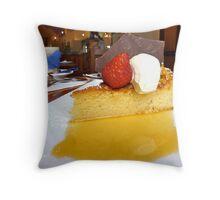 gluten free orange cake and syrup Throw Pillow