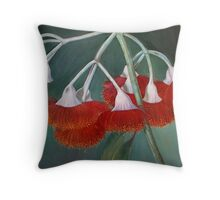 flowering gum (Silver Princess) Throw Pillow