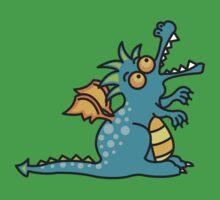 Teal Magic Dragon Baby Tee