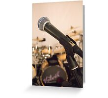 Microphone and Drums Greeting Card