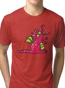 Red Magic Dragon Tri-blend T-Shirt