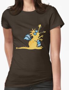 Yellow Magic Dragon Womens Fitted T-Shirt