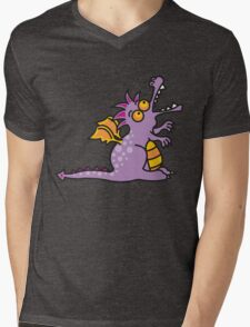 Purple Magic Dragon Mens V-Neck T-Shirt