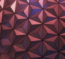 Epcot Spaceship Earth At Night Sticker