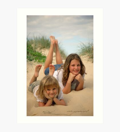 Beach Sisters © Vicki Ferrari Photography Art Print