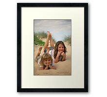 Beach Sisters © Vicki Ferrari Photography Framed Print