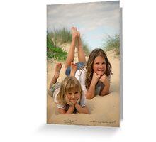 Beach Sisters © Vicki Ferrari Photography Greeting Card