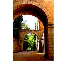 Outside the walls of the Alhambra fortresss in Granada Photographic Print