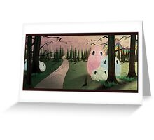 fluffy forest creatures  Greeting Card