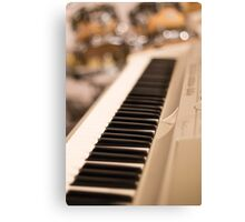 Keyboard and Drums Canvas Print